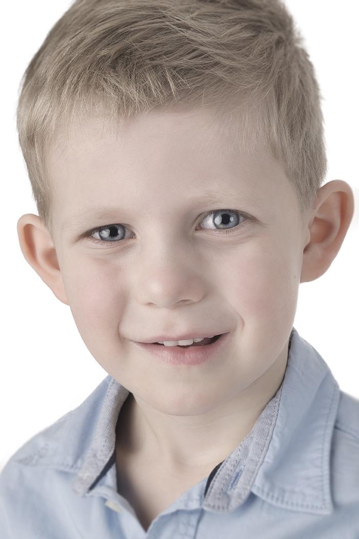 Børnefotografi efter redigering