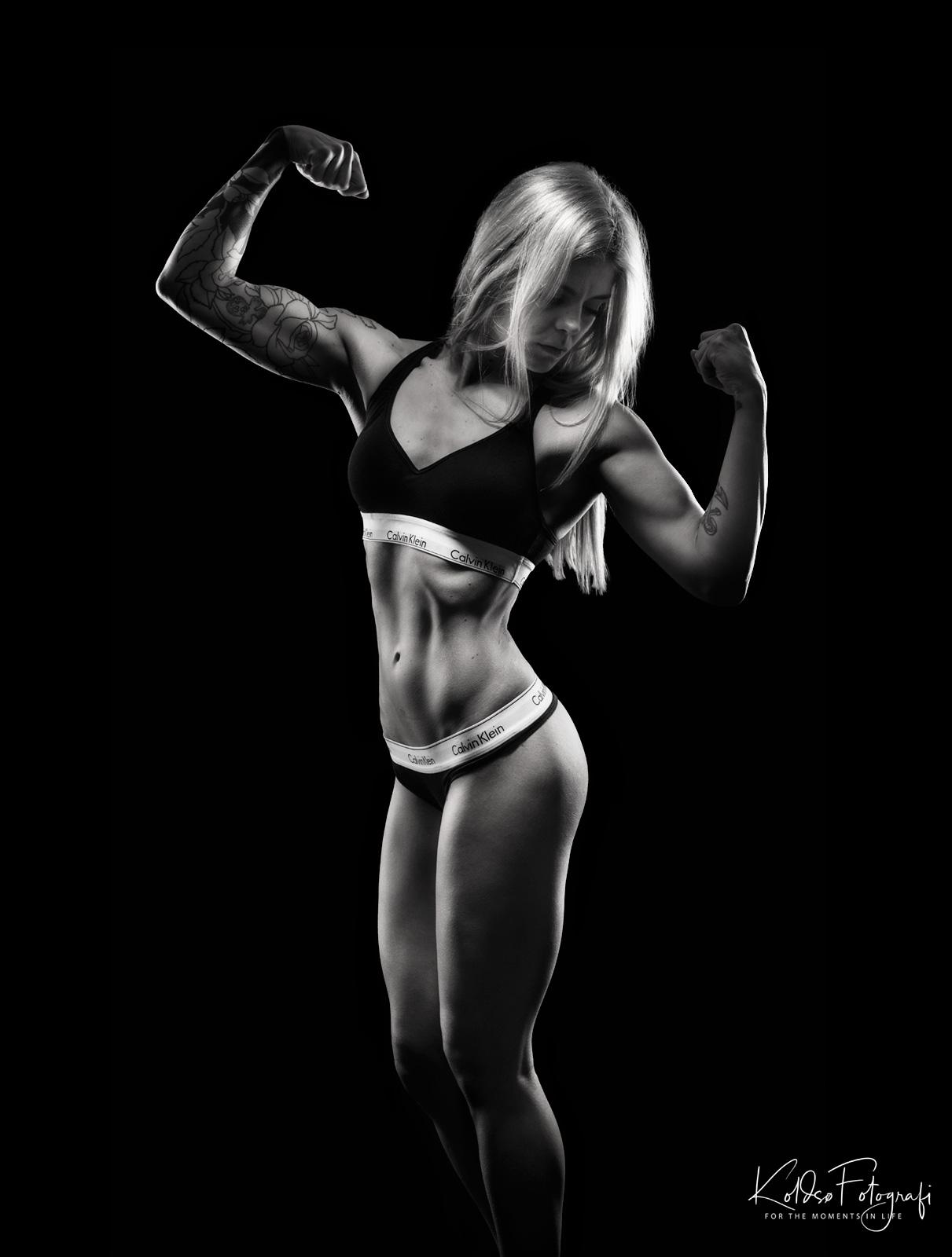 Fitness atletik fotografering