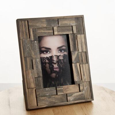 Flot designerramme i træ med fletlook | Koldsø Fotografi Webshop